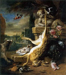 Dead Hare and Dog | Jan Weenix | Painting Reproduction