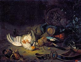Still Life with Dead Birds, undated von Jan Weenix | Gemälde-Reproduktion
