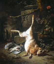 Still Life with Hare and other Hunting Booty | Jan Weenix | Painting Reproduction