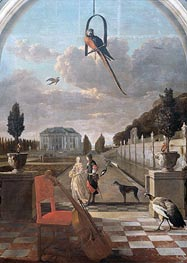 Park with House | Jan Weenix | Painting Reproduction