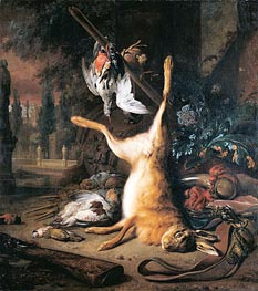 Dead Hare and Birds, 1687 by Jan Weenix | Painting Reproduction