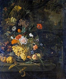 Flowers and Fruit | Jan Weenix | Painting Reproduction