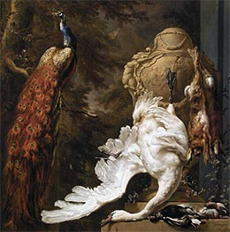 Peacock and Hunting Trophies | Jan Weenix | Painting Reproduction