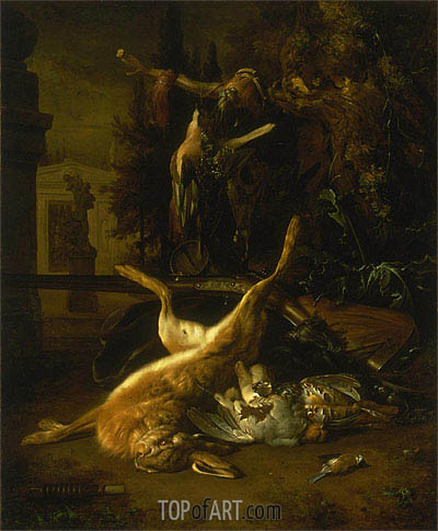 Still Life with a Hare and Birds, undated | Jan Weenix | Gemälde Reproduktion