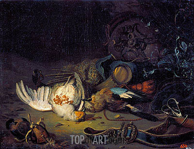 Still Life with Dead Birds, undated | Jan Weenix | Painting Reproduction
