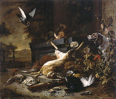 Still Life of Game, c.1680 | Jan Weenix | Painting Reproduction