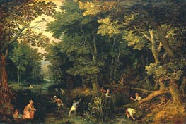 Latona and the Lycian Peasants, c.1605 by Jan Bruegel the Elder | Painting Reproduction
