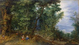 Wooden Landscape (The Rest on the Flight into Egypt) | Jan Bruegel the Elder | Painting Reproduction