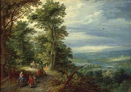 Edge of the Forest (The Flight into Egypt), 1610 by Jan Bruegel the Elder | Painting Reproduction