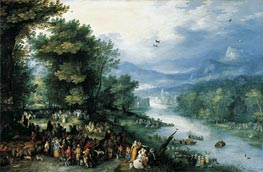 Landscape with Young Tobias | Jan Bruegel the Elder | Gemälde Reproduktion