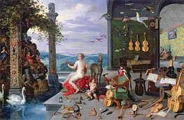 Allegory of Music, Undated by Jan Bruegel the Elder | Painting Reproduction