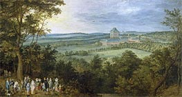 The Archdukes Hunting, c.1611 by Jan Bruegel the Elder | Painting Reproduction