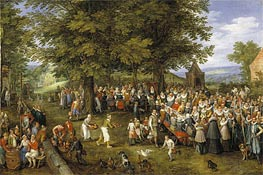Wedding Banquet Presided Over by the Archduke and Infanta | Jan Bruegel the Elder | Gemälde Reproduktion