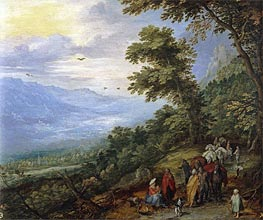 Gypsy Gathering in a Wood | Jan Bruegel the Elder | Gemälde Reproduktion