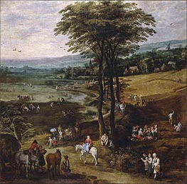 Country Life | Jan Bruegel the Elder | Gemälde Reproduktion