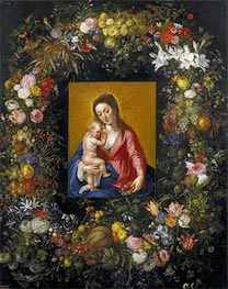 Garland with the Virgin and Child | Jan Bruegel the Elder | Gemälde Reproduktion