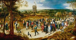 Wedding Procession to the Church | Jan Bruegel the Elder | Painting Reproduction
