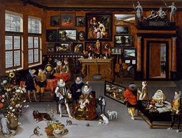 The Archdukes Albert and Isabella Visiting a Collector's Cabinet | Jan Bruegel the Elder | Gemälde Reproduktion