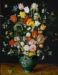 Flowers in a Blue Vase | Jan Bruegel the Elder | Gemälde Reproduktion