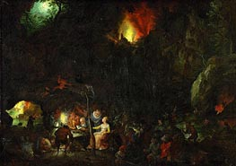 Temptation of Saint Anthony | Jan Bruegel the Elder | Gemälde Reproduktion