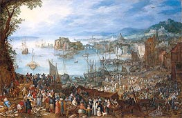 Large Fish Market | Jan Bruegel the Elder | Gemälde Reproduktion