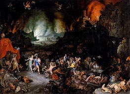 Aeneas and the Sibyl in the Underworld, c.1600 von Jan Bruegel the Elder | Gemälde-Reproduktion