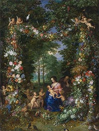 Holy Family, c.1620 by Jan Bruegel the Elder | Painting Reproduction