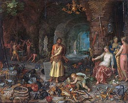 The Prophecy of Isaiah, 1609 von Jan Bruegel the Elder | Gemälde-Reproduktion