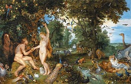 The Garden of Eden with the Fall of Man, c.1615 by Jan Bruegel the Elder | Painting Reproduction