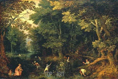Latona and the Lycian Peasants, c.1605 | Jan Bruegel the Elder | Painting Reproduction