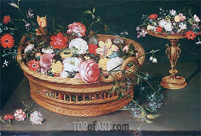 A Basket of Flowers, undated | Jan Bruegel the Elder | Painting Reproduction