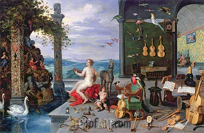 Allegory of Music, Undated | Jan Bruegel the Elder | Painting Reproduction