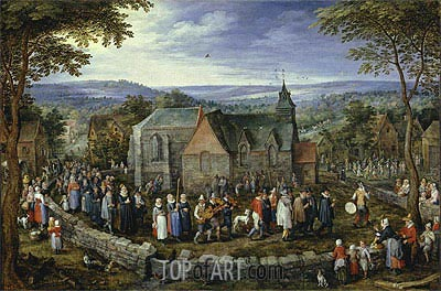 Country Wedding, c.1612 | Jan Bruegel the Elder | Gemälde Reproduktion