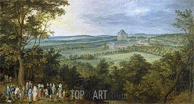 The Archdukes Hunting, c.1611 | Jan Bruegel the Elder | Painting Reproduction