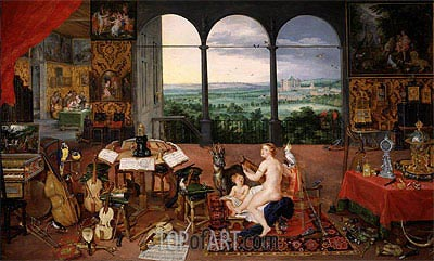 Hearing, 1617 | Jan Bruegel the Elder | Painting Reproduction