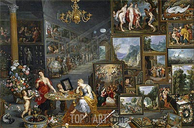 Sight and Smell, c.1620 | Jan Bruegel the Elder | Gemälde Reproduktion