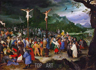 Crucifixion, c.1595 | Jan Bruegel the Elder | Gemälde Reproduktion