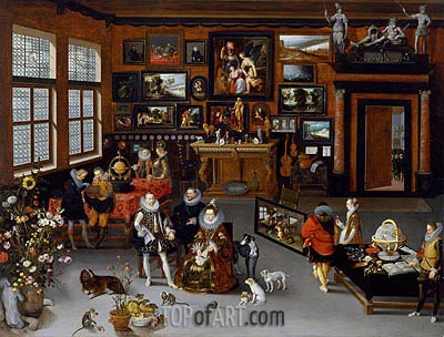 The Archdukes Albert and Isabella Visiting a Collector's Cabinet, c.1621/23 | Jan Bruegel the Elder | Gemälde Reproduktion