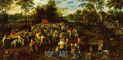 Wedding Banquet, 1623 | Jan Bruegel the Elder | Gemälde Reproduktion