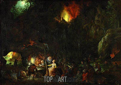 Temptation of Saint Anthony, c.1603/04 | Jan Bruegel the Elder | Gemälde Reproduktion