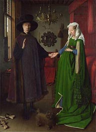 The Arnolfini Portrait, 1434 von Jan van Eyck | Gemälde-Reproduktion