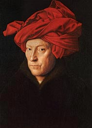 A Man in a Turban (Possibly a Self-Portrait), 1433 von Jan van Eyck | Gemälde-Reproduktion