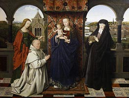 Virgin and Child, with Saints and Donor, c.1441 von Jan van Eyck | Gemälde-Reproduktion
