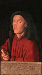 Portrait of a Man (Leal Souvenir), 1432 by Jan van Eyck | Painting Reproduction