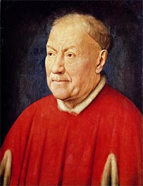 Cardinal Niccolo Albergati, c.1435 by Jan van Eyck | Painting Reproduction