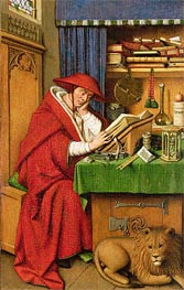 Saint Jerome in His Study, c.1435 von Jan van Eyck | Gemälde-Reproduktion