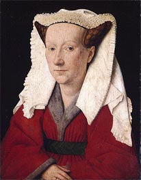 Portrait of Margareta van Eyck, 1439 von Jan van Eyck | Gemälde-Reproduktion