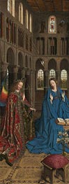 The Annunciation, c.1434/36 von Jan van Eyck | Gemälde-Reproduktion