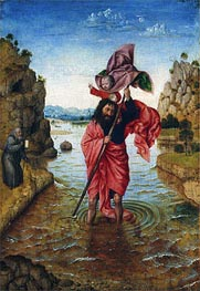 Saint Christopher, c.1440/50 by Jan van Eyck | Painting Reproduction