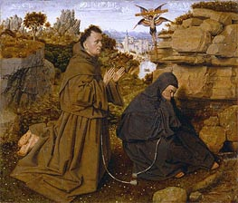 Saint Francis of Assisi Receiving the Stigmata, c.1438/40 von Jan van Eyck | Gemälde-Reproduktion